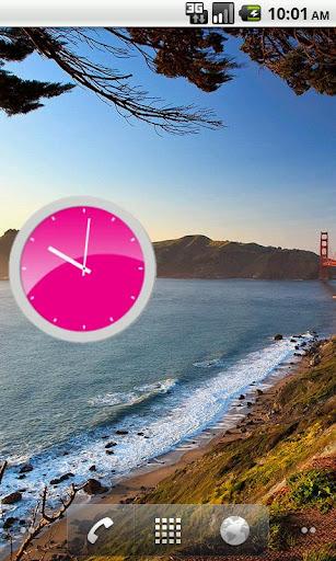 【免費工具App】Pink Analog Clock-APP點子