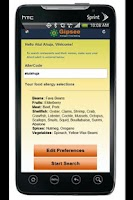 Screenshot of Interactive Food Allergy Menus