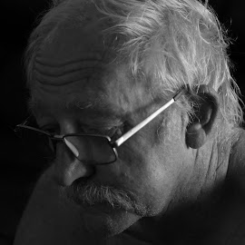 DEEP IN THOUGHT by Kerry Cooper - People Portraits of Men