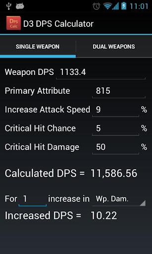 Diablo 3 DPS Calculator