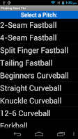 Screenshot of Pitching Hand Pro