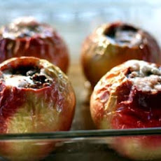 Baked Apples with Mexican Chocolate