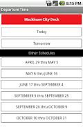 Screenshot of Star Line 2011 Ferry Schedule