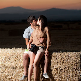 Couple kissing by Catalin Alexandru - People Couples ( kiss, couple )