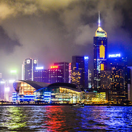 Hong Kong Skyline by Angelo Perrino - City,  Street & Park  Skylines