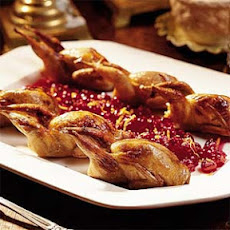 Roasted Quail with Cranberry-Orange-Pecan Stuffing