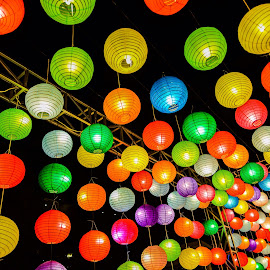 Colorful Night Walk by Nilwan Humendru - City,  Street & Park  Night