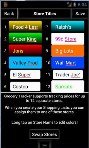 Grocery-Tracker ProKey - screenshot