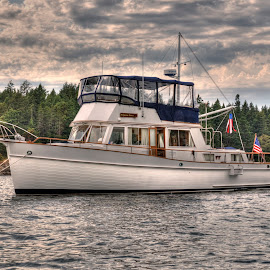 Princess Grace by Dennis McClintock - Transportation Boats ( boating, sucia island, puget sound, transportation, boat )