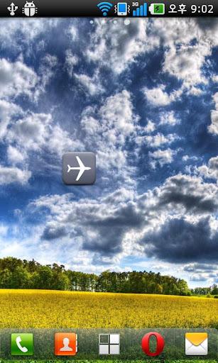 Airplane mode switcher widget