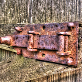Rusty Lock by Aura Vasile - Artistic Objects Industrial Objects
