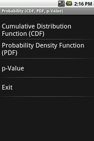 Probability PDF CDF p-Val