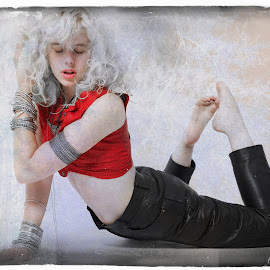 Bruja by Monika Schaible - Digital Art People ( fine art photography, monika schaible, leather trousers, portrait )
