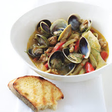 Steamed Clams with Spicy Italian Sausage and Fennel