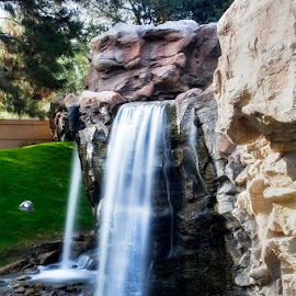 Silky Waterfall by Fred Herring - City,  Street & Park  City Parks