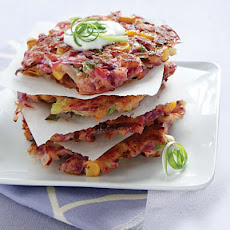 Purple Sweet Potato Latkes