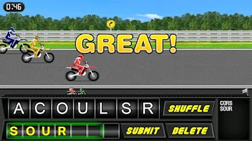 Screenshot of Word Rider