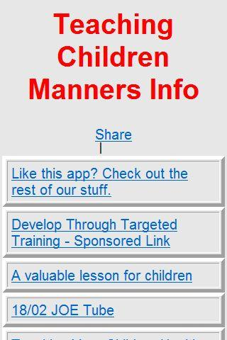 Teaching Children Manners