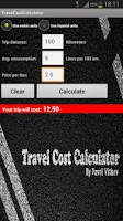 Screenshot of Travel Cost Calculator