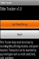 Screenshot of Tithe Tracker finance