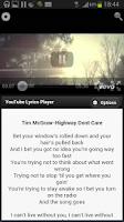 Screenshot of Lyrics4Tube - Lyrics Player