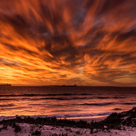 Burning sky by Marleen la Grange - Landscapes Sunsets & Sunrises