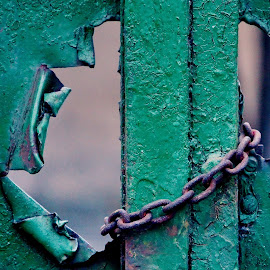 No more by Iulia Breuer - Artistic Objects Other Objects ( doors, green, chains, rust )