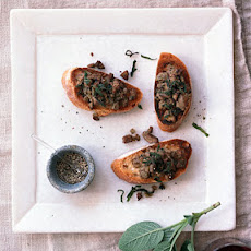 Chicken Liver and Sage Crostini