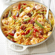Spanish Rice & Prawn One-pot