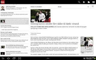 Screenshot of eBladet