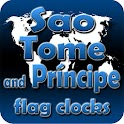 Sao Tome Principe flag clocks icon