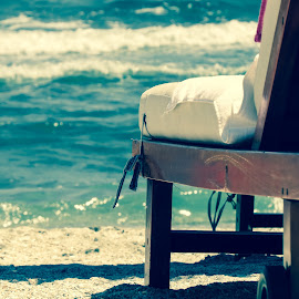 Relax by Monica Durbac - Artistic Objects Furniture ( water, black sea, chair, nature close up, beach, closeup, , Chair, Chairs, Sitting )