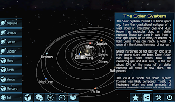 Screenshot of Solar System Explorer HD