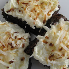 Coconut Cream Topped Brownies