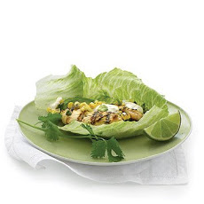 Grilled Chicken and Corn Lettuce Wraps