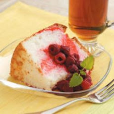Raspberry Angel Cake
