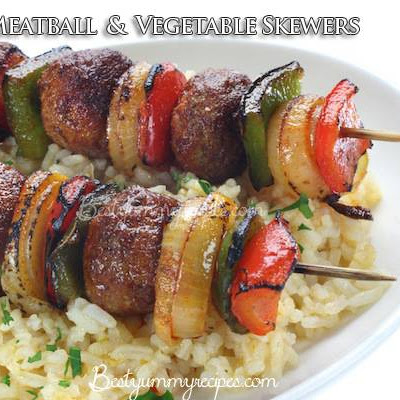 Meatball and Vegetable Skewers