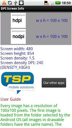 DPI Screen Info