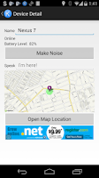 Screenshot of Find My Android/Kindle Free