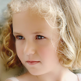 Beauty Personified by Judy Thompson - Babies & Children Child Portraits ( grandchild, girl, dark eyes, granddaughter, blond,  )