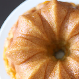 Peach Vanilla Bean Bundt Cake with Peach Soaking Syrup