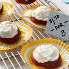 Frosted Red Velvet Cookies