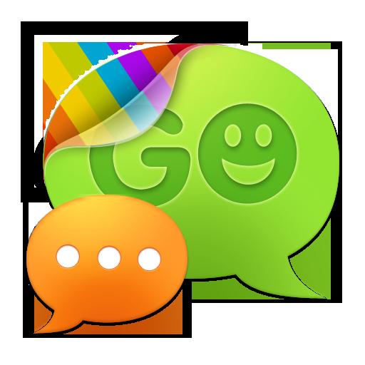 GO短信加强版轻柔蓝色主题 LOGO-APP點子