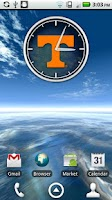 Screenshot of Tennessee Vols Clock Widget