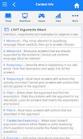 Screenshot of LSAT Flashcards