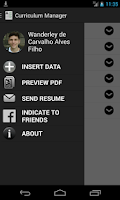 Screenshot of Curriculum Manager / Resume