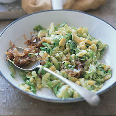 Brussels Sprout Hash with Caramelized Shallots