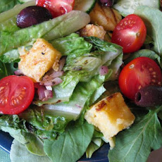 Grilled Salad With Cornbread