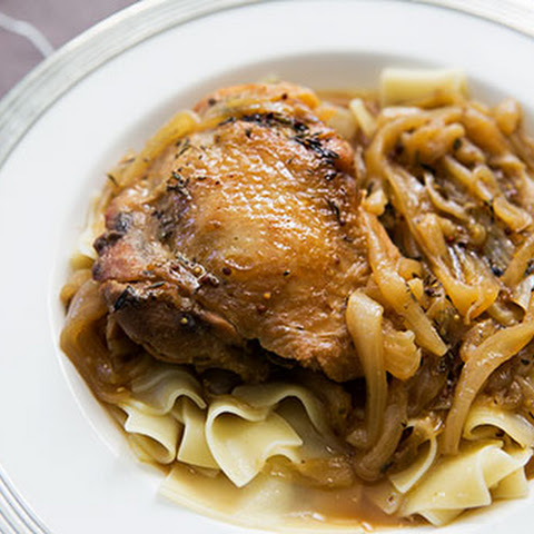 Beer Braised Chicken and Onions