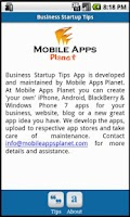 Screenshot of Business Startup Tips